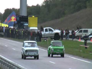 ZAZ 968M Turbo vs VAZ 2101 Turbo (9.10.10 Харьков)