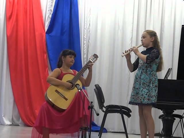 Бабенко Саша (гитара) и Лукошкова Маша (флейта). Колыбельная Светланы.