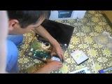 Разборка ноутбука Asus x551m для чистки и смены батарейки Ижевск