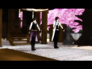 [MMD]  Bad Apple -  Hakuouki Shinsengumi Kitan (Сказание о демонах сакуры)