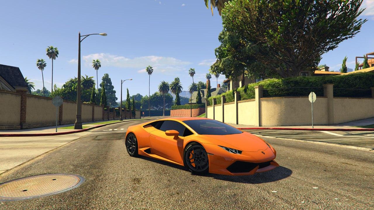 Lamborghini Huracan 2015 v1.0 для GTA V - Скриншот 1