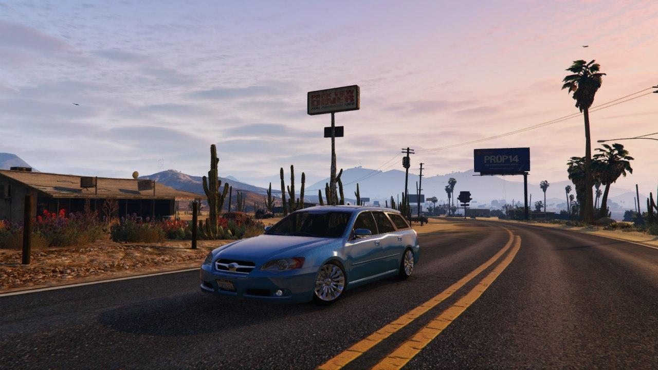 Subaru Legacy Touring Wagon BP5 v0.1 для GTA V - Скриншот 1