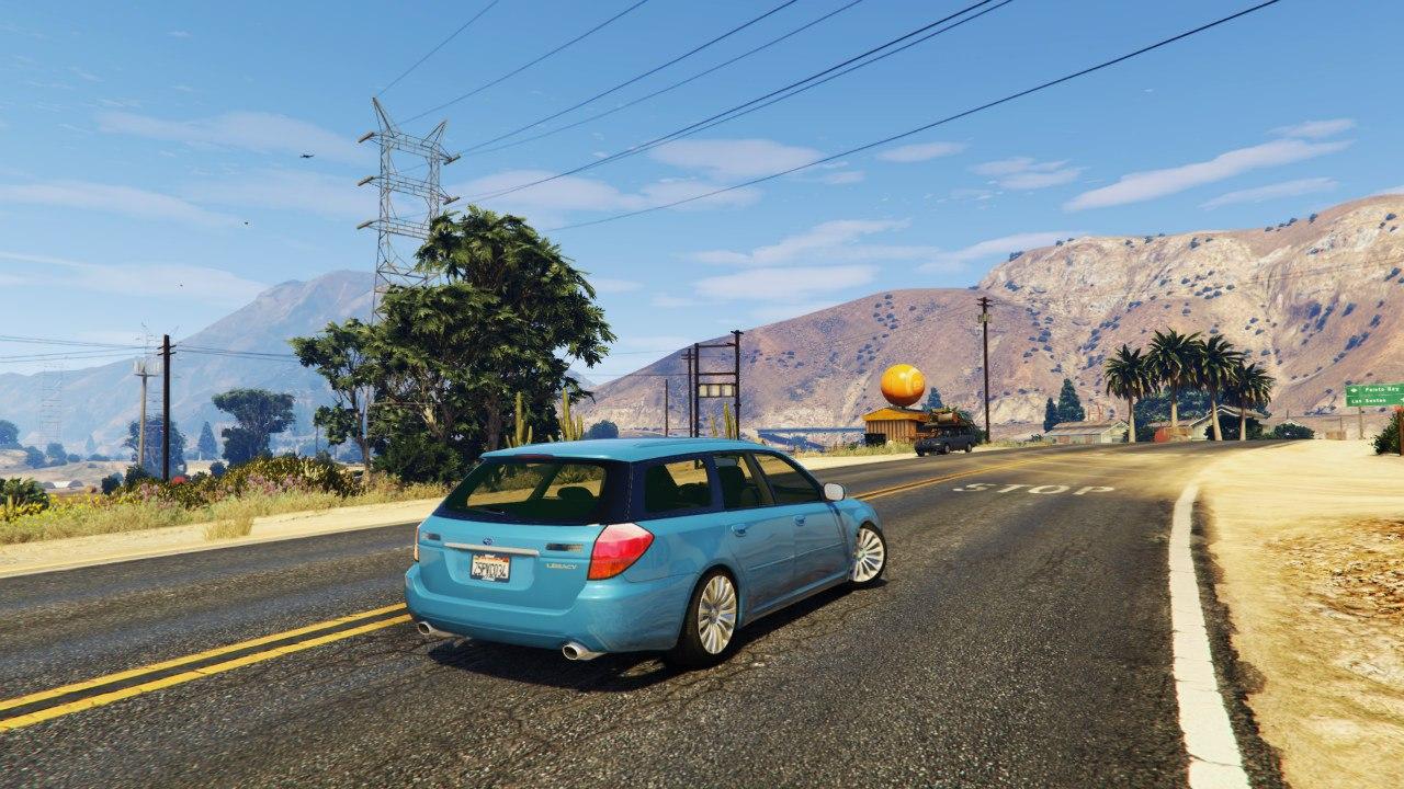 Subaru Legacy Touring Wagon BP5 v0.1 для GTA V - Скриншот 3