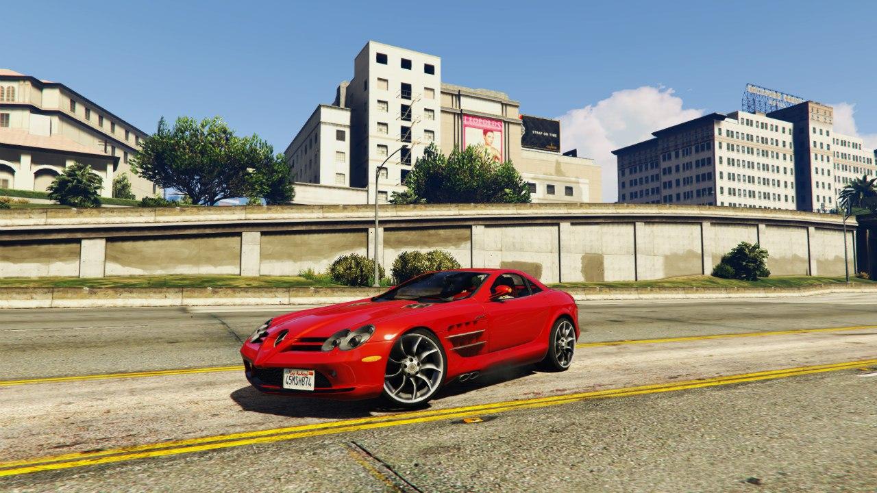 2005 Mercedes-Benz SLR для GTA V - Скриншот 1