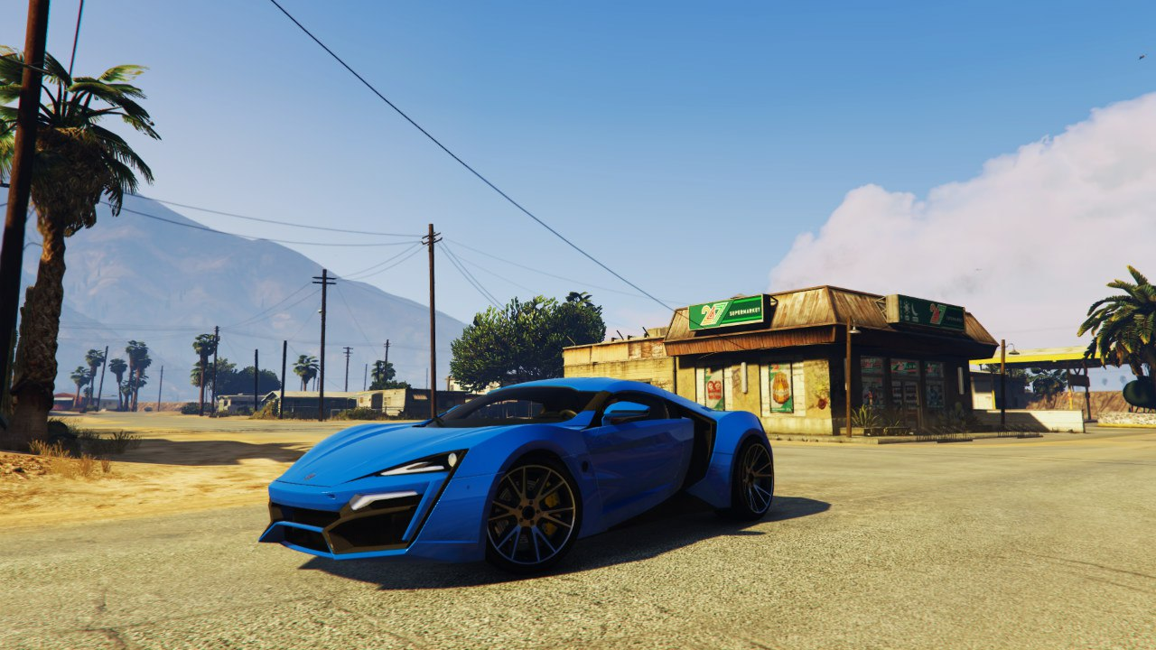 2014 Lykan Hypersport WMotors для GTA V - Скриншот 3