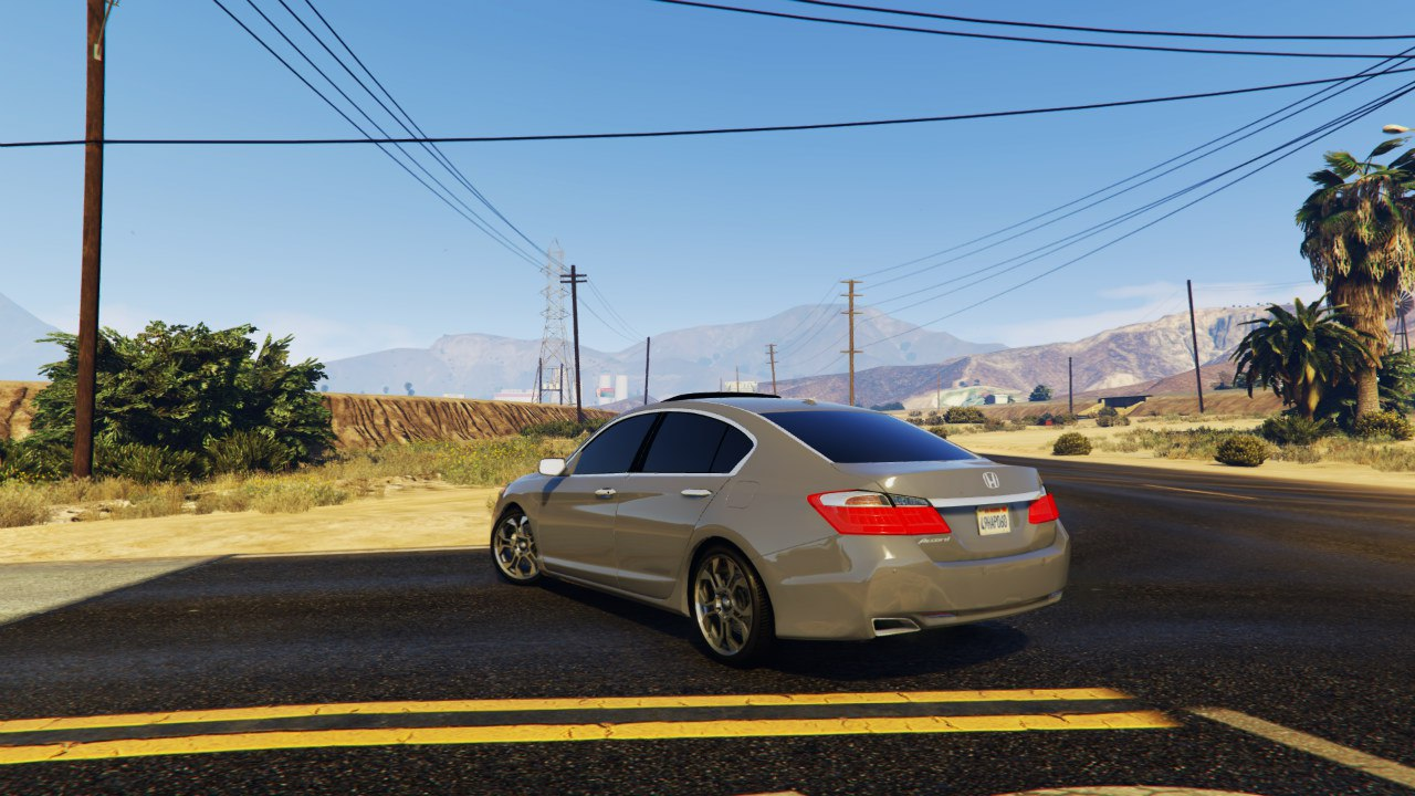 2015 Honda Accord v1.0 для GTA V - Скриншот 2
