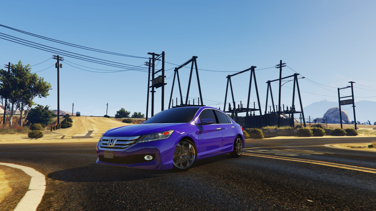 2015 Honda Accord v1.0 для GTA V - Скриншот 3