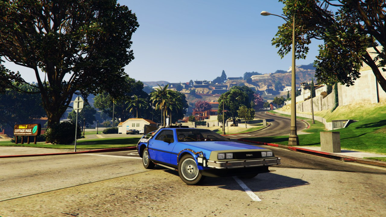 Back To The Future - Delorean Time Machine BETA 0.5 для GTA V - Скриншот 1