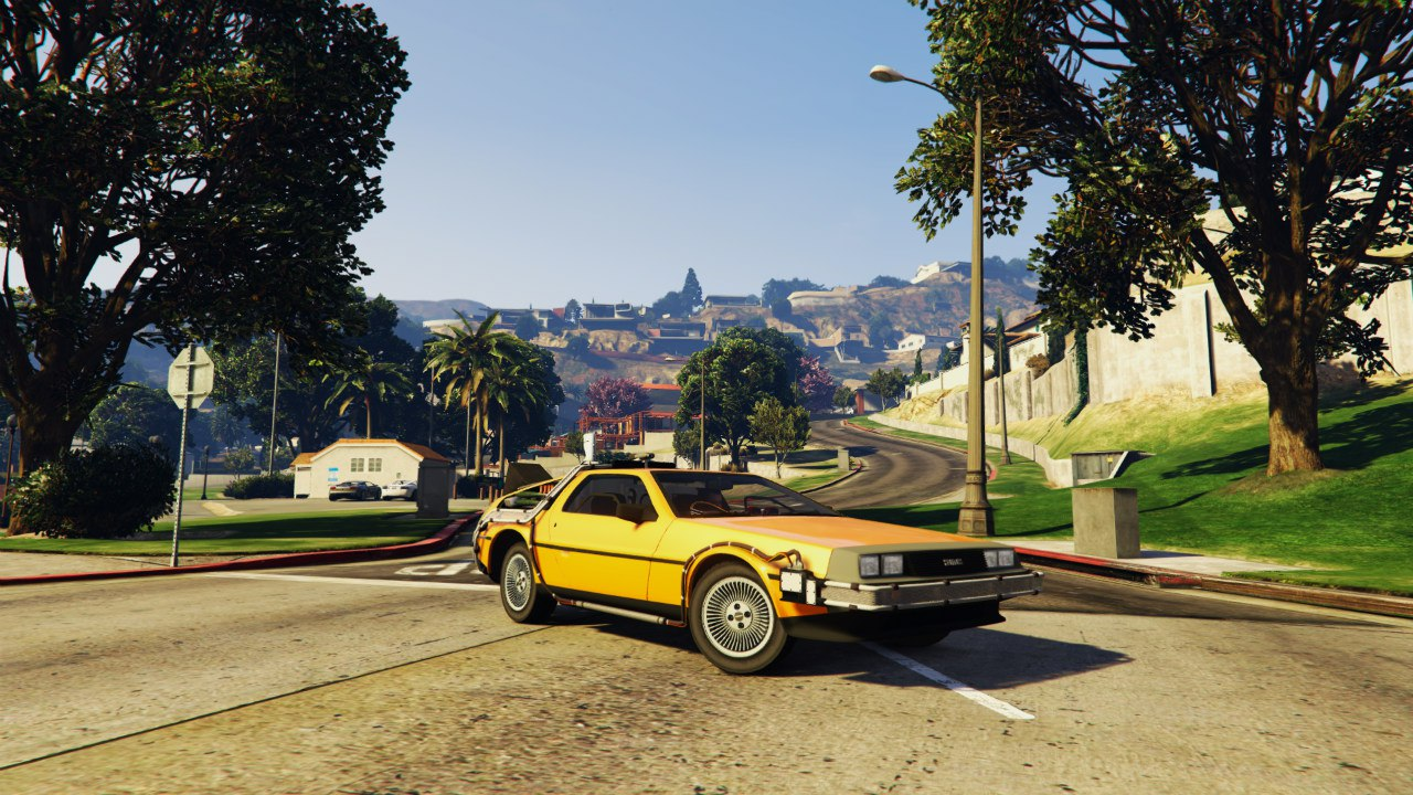 Back To The Future - Delorean Time Machine BETA 0.5 для GTA V - Скриншот 2