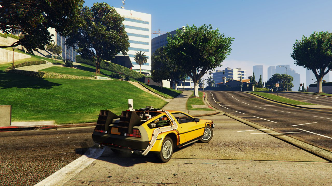 Back To The Future - Delorean Time Machine BETA 0.5 для GTA V - Скриншот 3