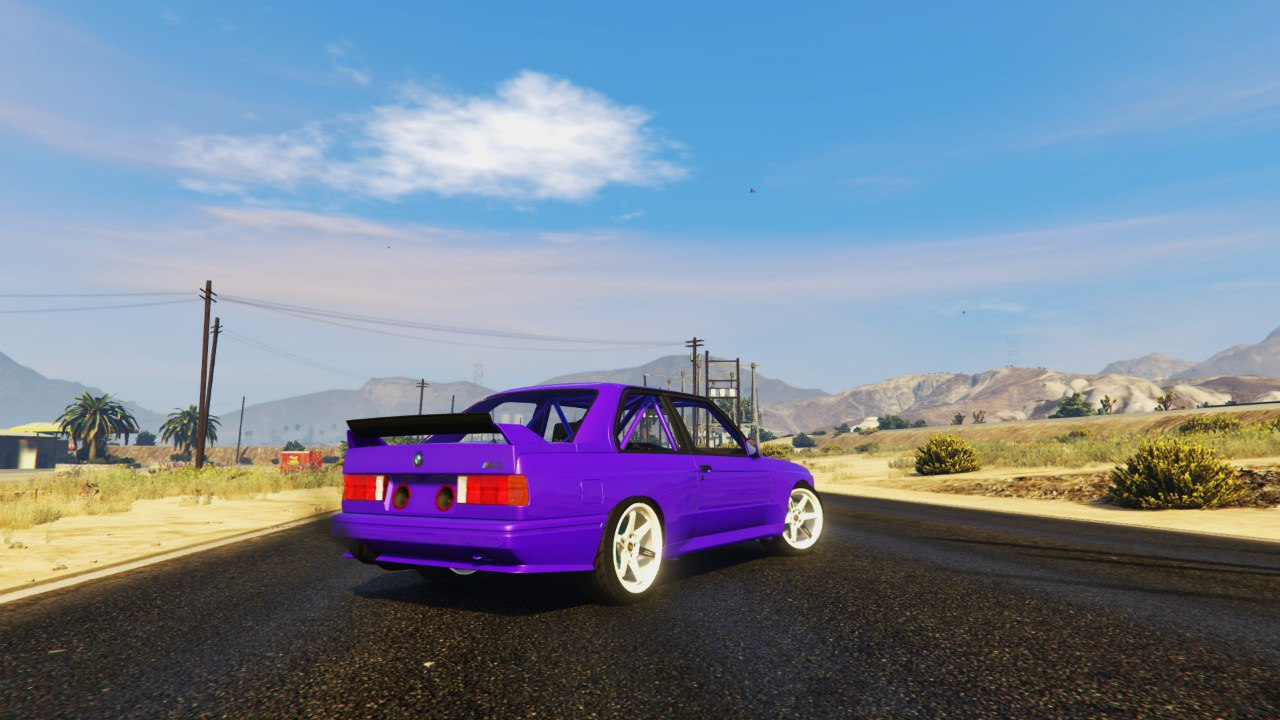 1991 BMW E30 Drift Edition 1.1 для GTA V - Скриншот 3
