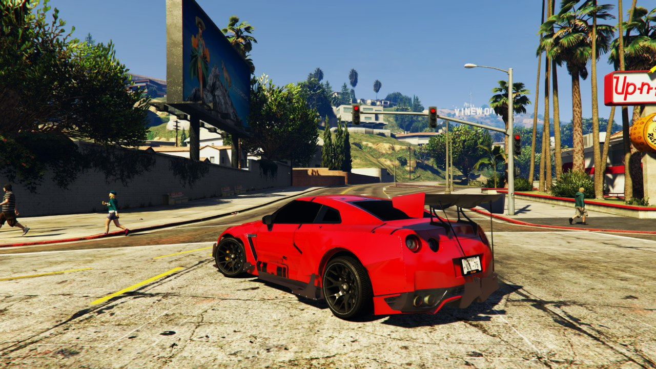 Nissan GT-R R35 RocketBunny [EARLY BETA] для GTA V - Скриншот 2