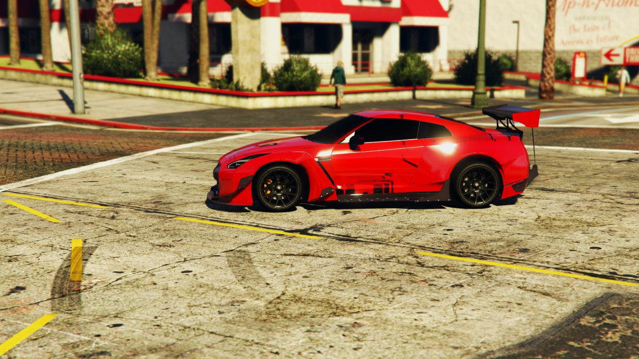 Nissan GT-R R35 RocketBunny [EARLY BETA] для GTA V - Скриншот 3