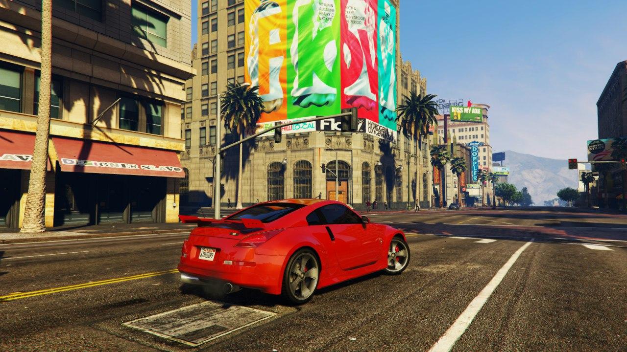 Nissan 350z для GTA V - Скриншот 1