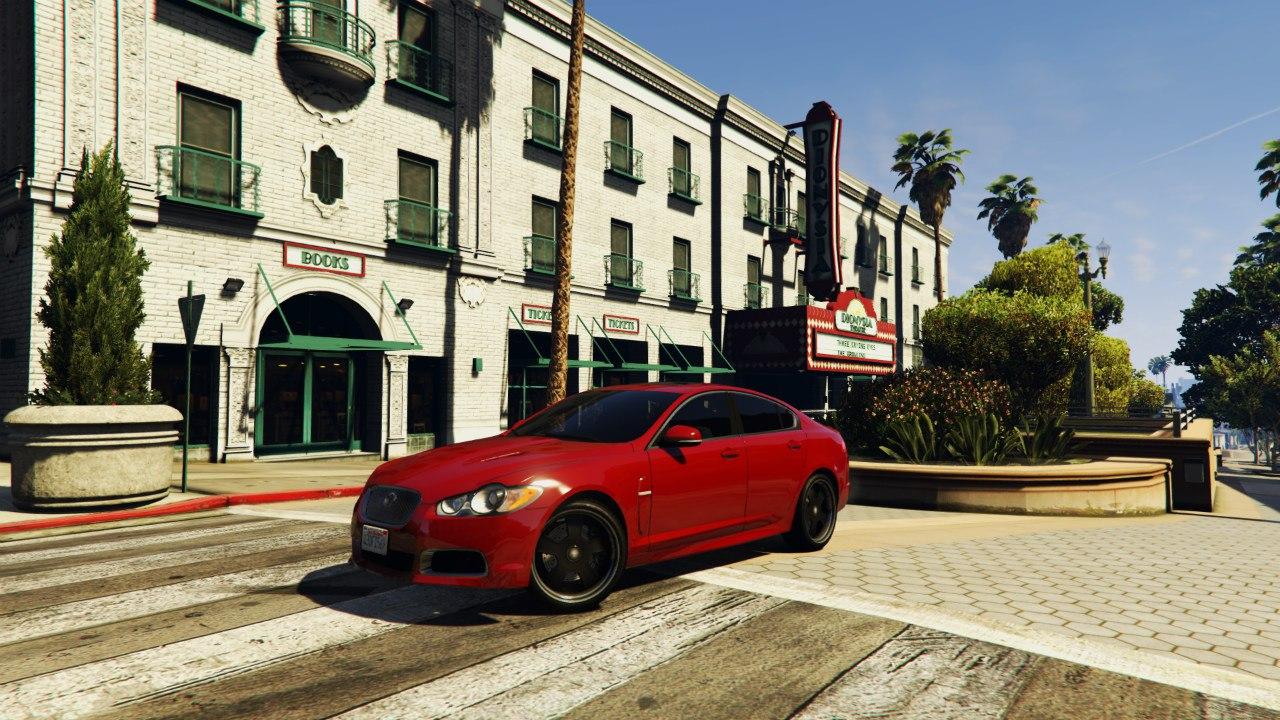 Jaguar XFR 2010 для GTA V - Скриншот 1