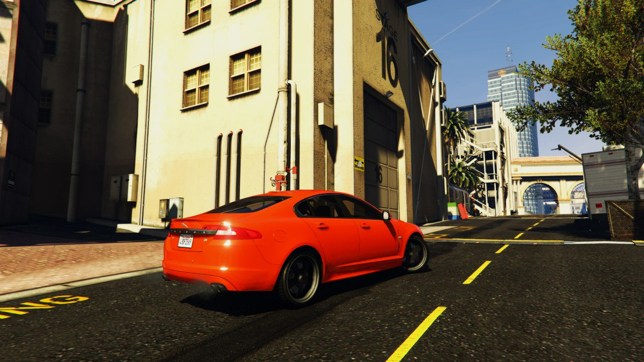 Jaguar XFR 2010 для GTA V - Скриншот 2