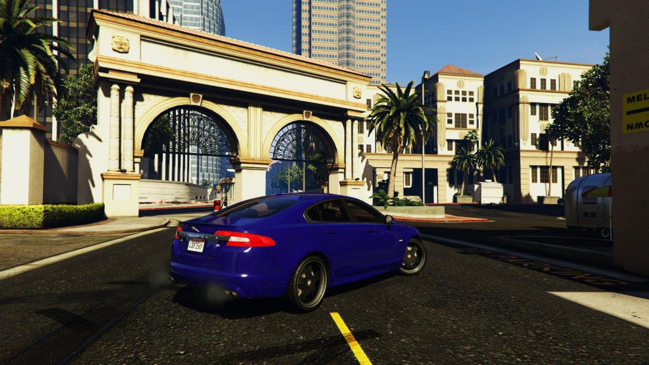 Jaguar XFR 2010 для GTA V - Скриншот 3