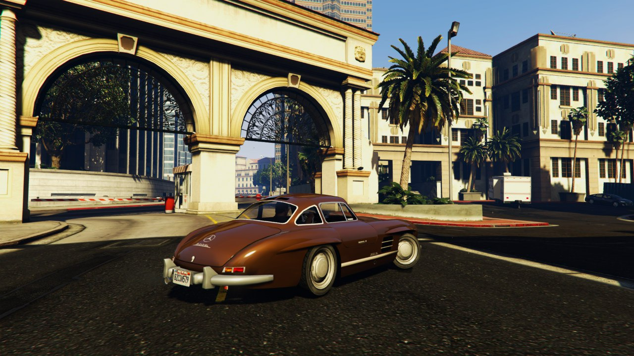 Mercedes 300SL Gullwing 1954 для GTA V - Скриншот 1