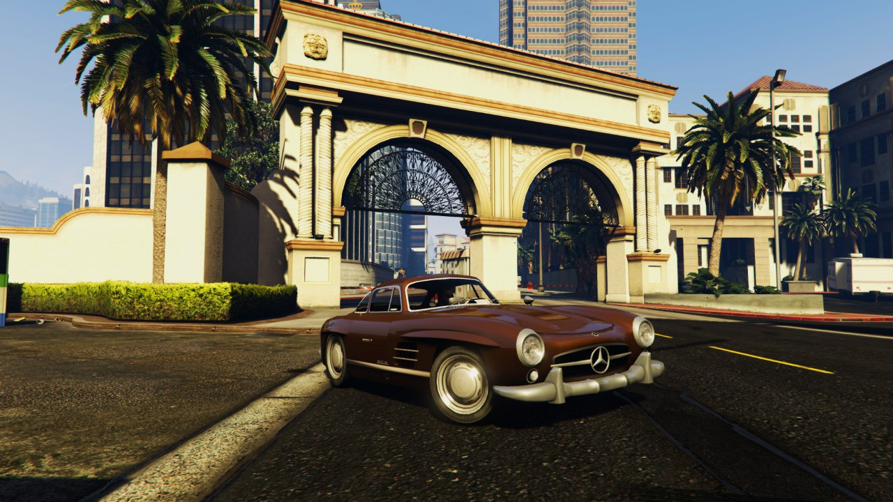 Mercedes 300SL Gullwing 1954 для GTA V - Скриншот 2