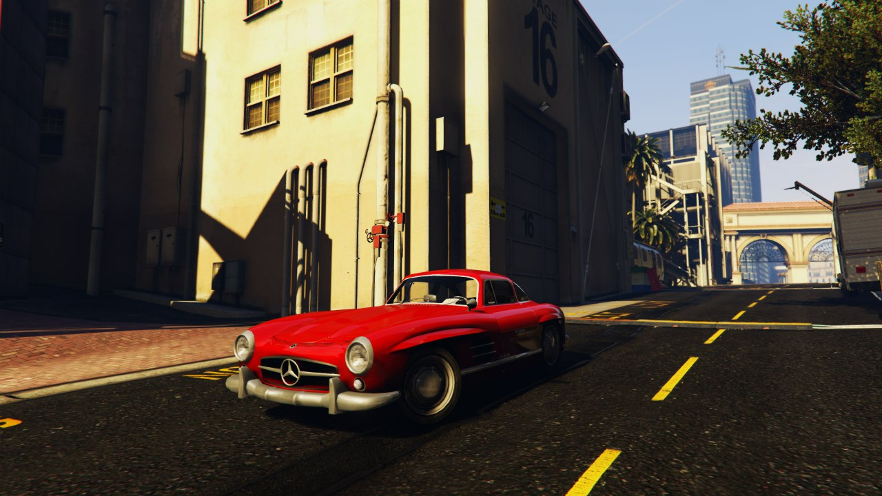 Mercedes 300SL Gullwing 1954 для GTA V - Скриншот 3