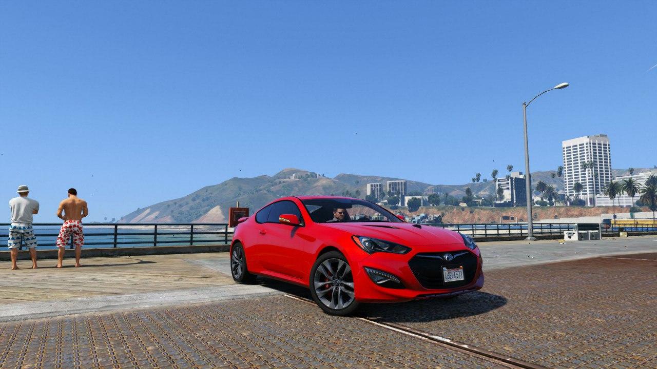 2013 Hyundai Genesis 0.1 для GTA V - Скриншот 1