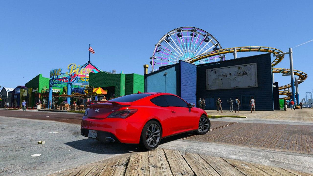 2013 Hyundai Genesis 0.1 для GTA V - Скриншот 2
