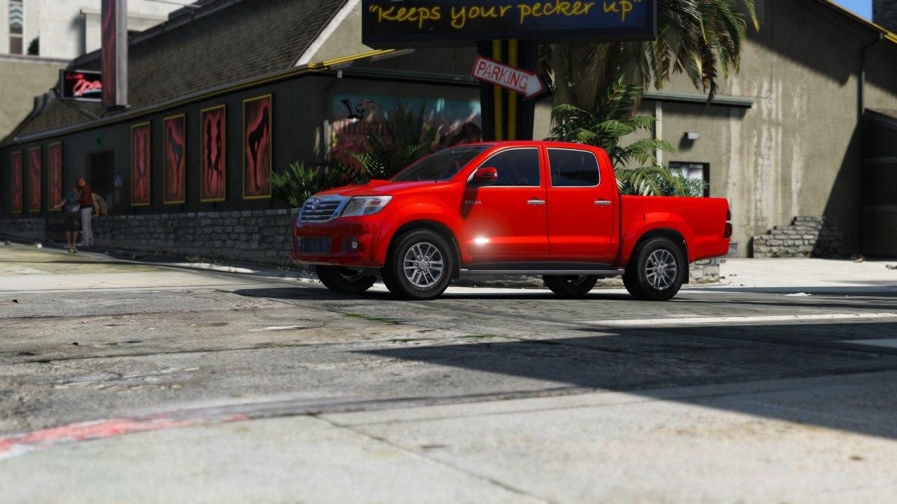 Toyota Hilux 2012 (Vigo Champ) для GTA V - Скриншот 3