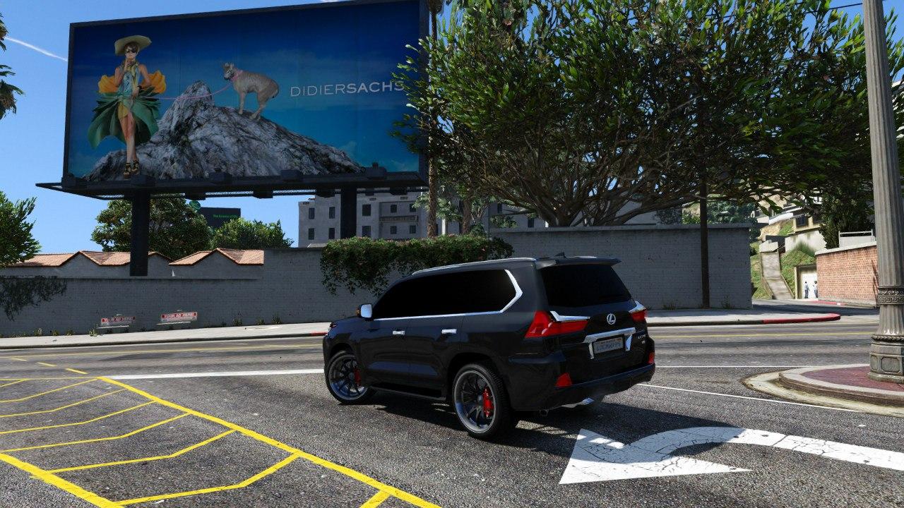 2016 Lexus LX 570 для GTA V - Скриншот 2