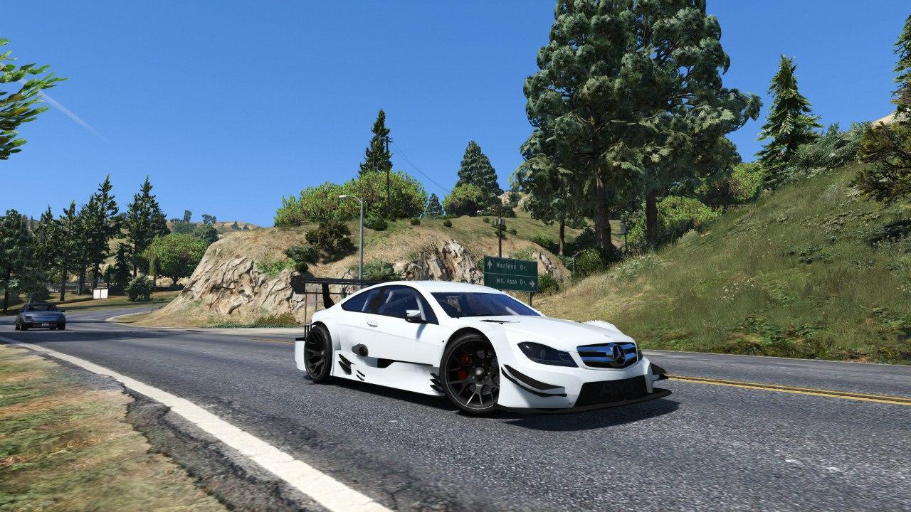 Mercedes-Benz AMG DTM C204 '13 для GTA V - Скриншот 3