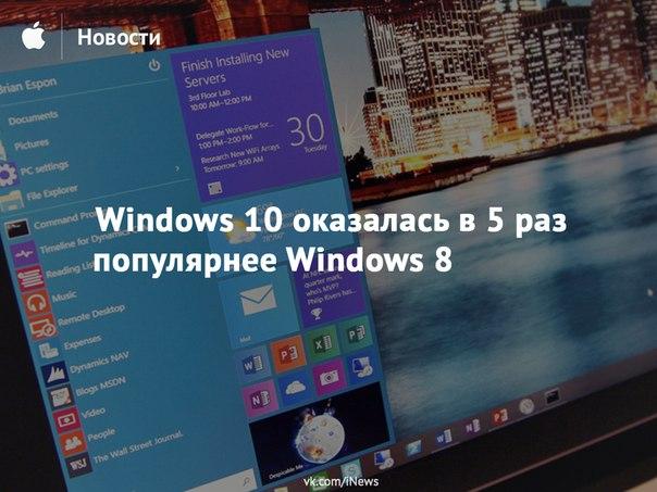 Сравнение 8 и 10 Windows