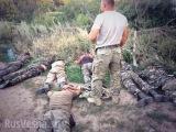Донецк, Шахтёрск. Пленные Украинские солдаты 01/08/14.