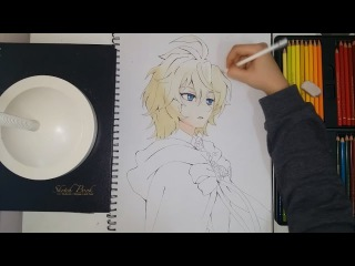 Drawing Mikaela Hyakuya ( Mika ) from Owari no Seraph