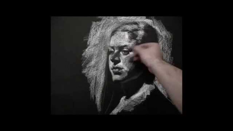 White on Black demos from live model by Zimou Tan