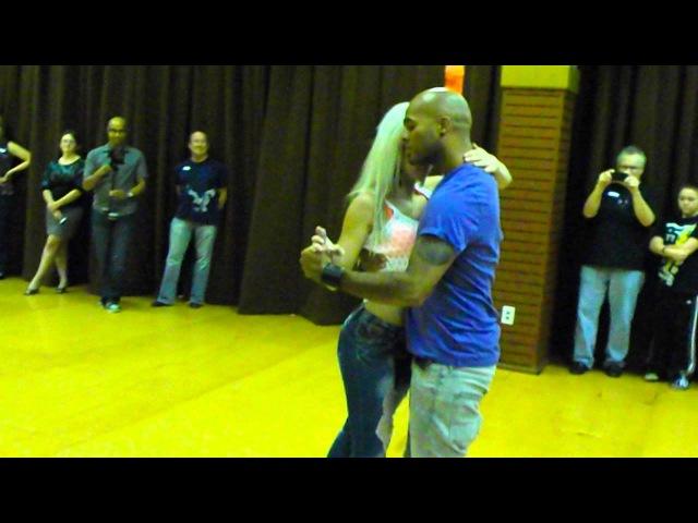 Sara Lopez and Albir Rojas Dance Kizomba At D