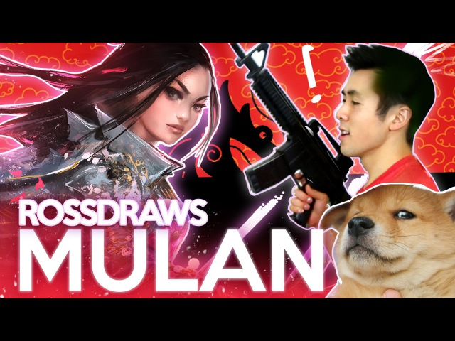 RossDraws Epic MULAN Disney