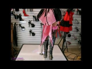 Mia Hartt Corset Leg Ave Stockings Leather Boots