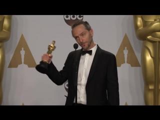 Эммануэль Любецки в пресс-центре (Оскар 2016)