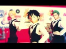 【One Piece MMD】Straw Hats Cafe 【Luffy, Sanji, Zoro】 Girls