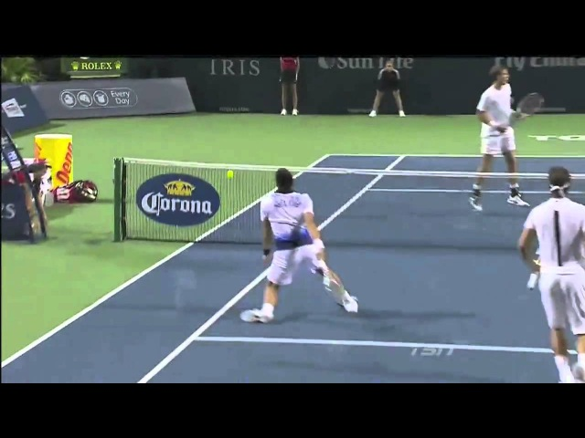 Nadal/Djokovic vs Pospisil/Raonic - HD highlights