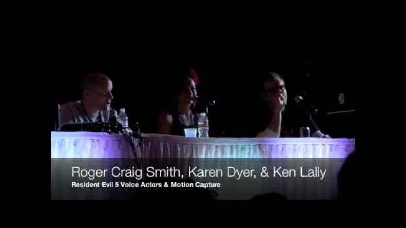 Resident Evil 5 Panel with Roger Craig Smith, Karen Dyer Ken Lally at Sacanime 2011