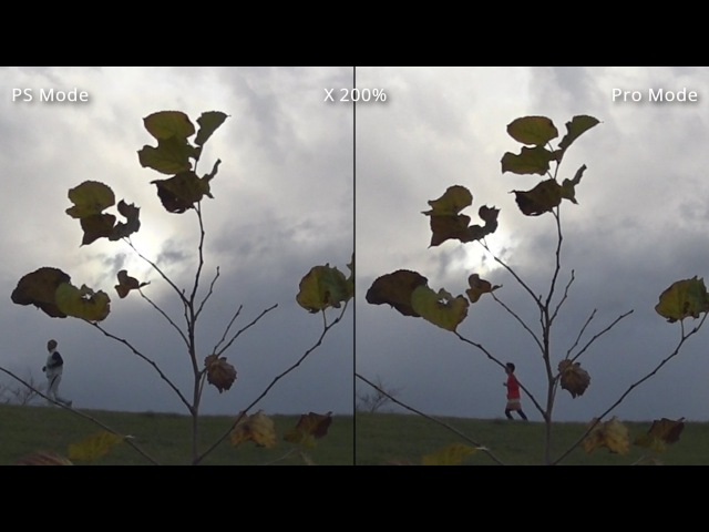 SONY HDR AS100V Comparing PS Mode and Pro Mode XAVC S