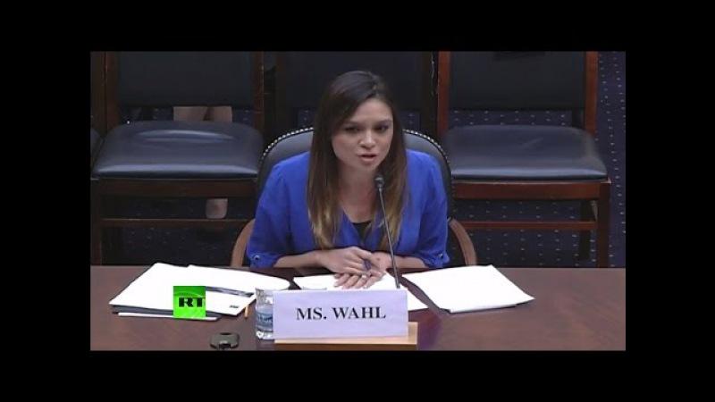 Бывшая ведущая RT выступила в конгрессе США против российской «пропаганды»
