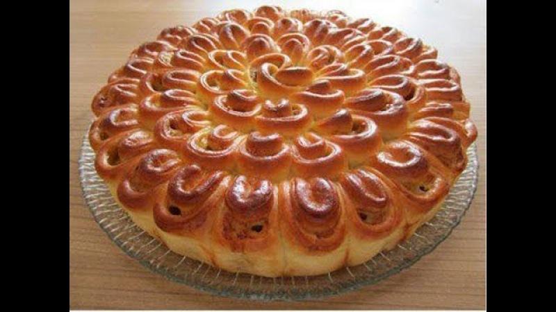 Мясной пирог Хризантема🍴