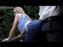 Водила выебал раком не раздевая сексуальную домохозяйку разорвав её джинсы прямо в её саду[XXX,Порно