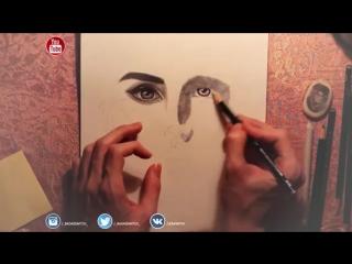 РИСОВАНИЕ ПОРТРЕТА- Лана Дель Рей - DRAWING- Lana Del Rey