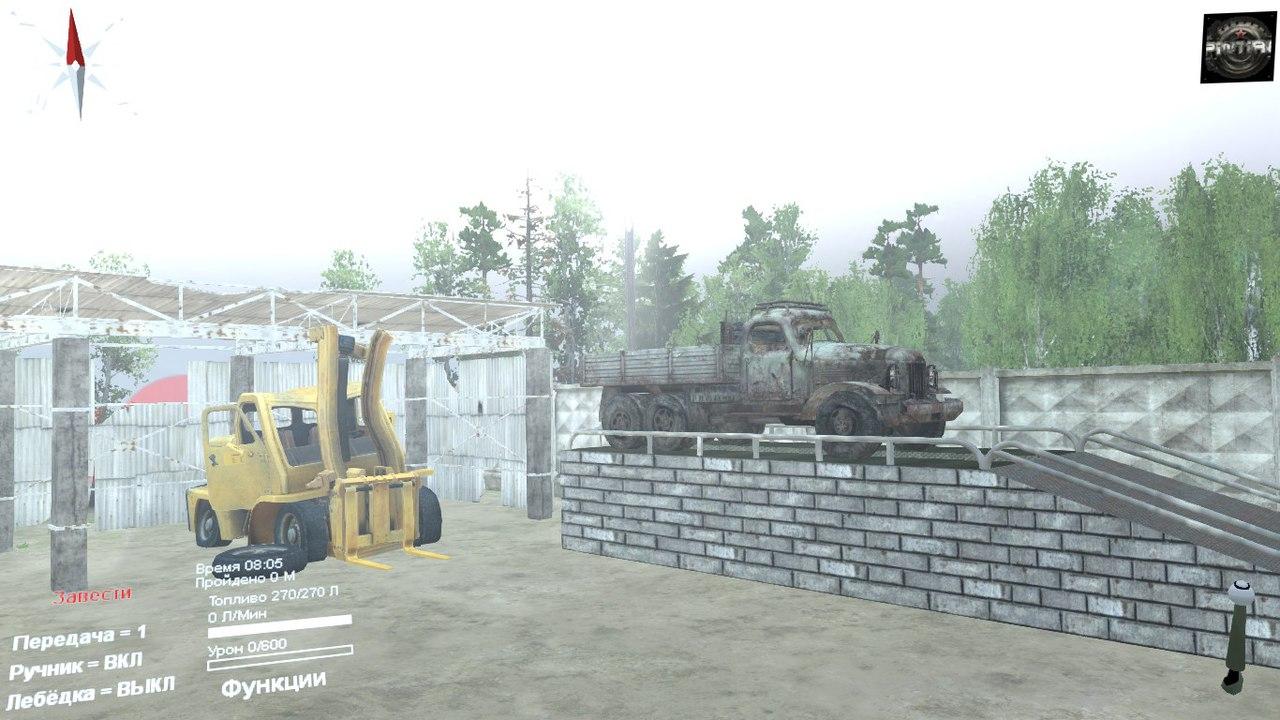 """Карта """"Долгая дорога"""" для 03.03.16 для Spintires - Скриншот 1"""