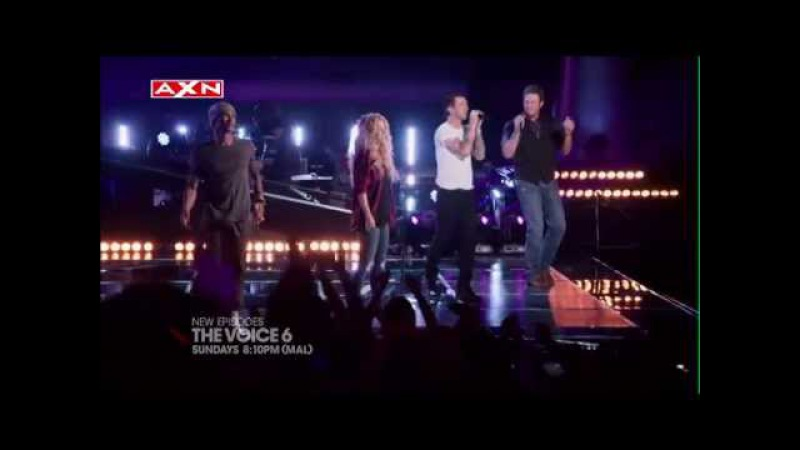 AXN The Voice 6 Coaches Sing