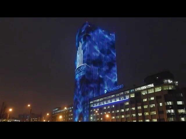 Медиафасад Leader Tower - светящийся дом на пл.Конституции