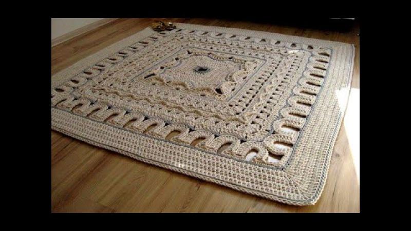 Прямоугольный коврик из шнура