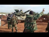 Footage from the Russian tank operations (T90) in Aleppo, Syria